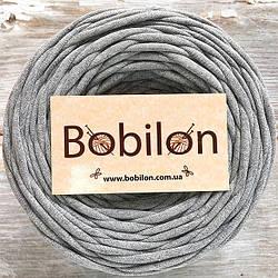 Ленточная пряжа Бобилон 5-7 мм, цвет серый меланж