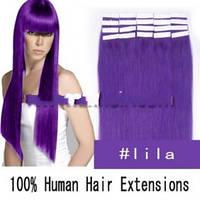 ОКОНЧАТЕЛЬНАЯ РАСПРОДАЖА ОСТАТКОВ!  Волосы на лентах фиолетовый цвет.