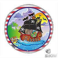 """Шарики фольгированные, 18"""" круг """"Пираты"""",, SH-132"""