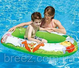 Детская надувная лодка для плавания Intex  Винни Пух 119 см, фото 3