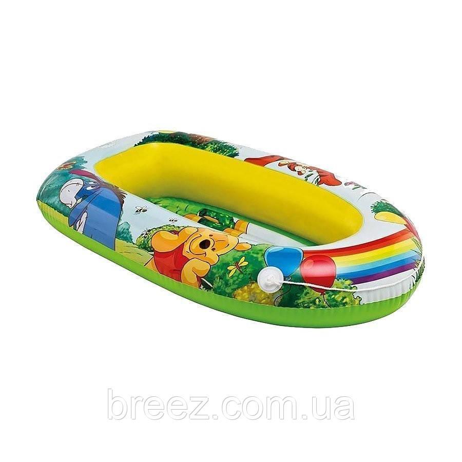 Детская надувная лодка для плавания Intex  Винни Пух 119 см