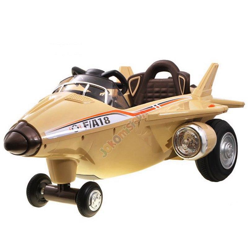 Детский Самолёт F/A 18: Резиновые колёса, MP3, пульт 2,4 G - Золотой (код: 6744029297)-купить оптом