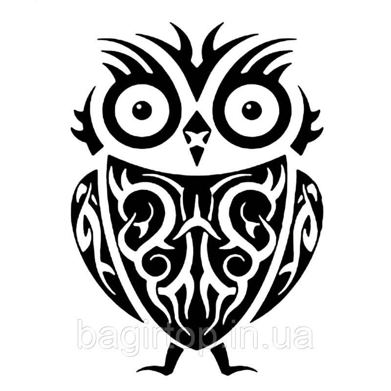 Вінілова наклейка - Сова (4)