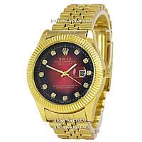 Часы Rolex Date Just Diamonds Gold-Red
