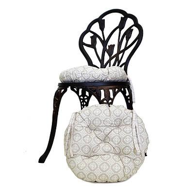 Круглая подушка на стул Ажур