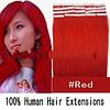 ОКОНЧАТЕЛЬНАЯ РАСПРОДАЖА ОСТАТКОВ!  Волосы на лентах красный цвет.