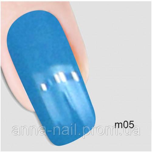 Гель лак Молекула воздуха Nika Nagel m05, голубой 10 мл