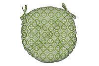 Круглая подушка на стул Ажур олива