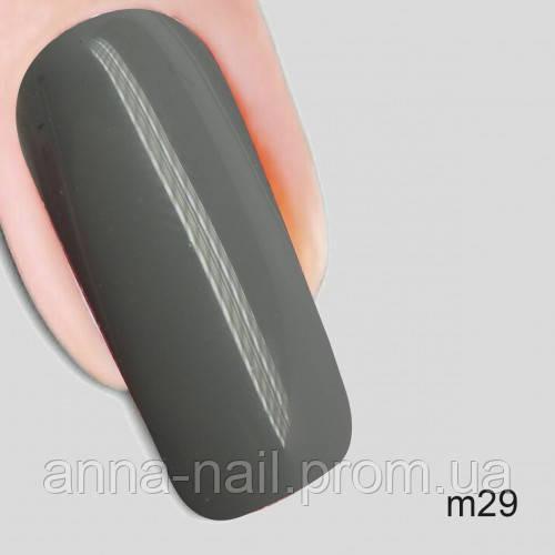 Гель лак Молекула кокетства Nika Nagel m29, серый 10 мл