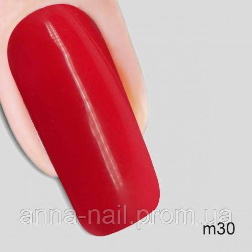 Гель лак Молекула бархата Nika Nagel m30, красный 10 мл