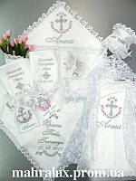 Крестильный набор с именной крыжмой для девочки «Аннушка»