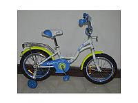 "Велосипед детский PROF1 18"" Butterfly, белый, G1824"