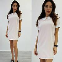 Платье  размер с- м ткань креп костюмка отличное качество(21387)