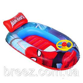 Детская надувная лодка для плавания Bestway 98009 Человек паук 112 см