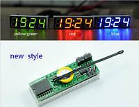Цифровой термометр вольтметр с водонепроницаемым датчиком температуры и часами