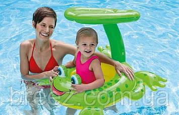 Детский надувной плотик для плавания Intex  Лягушка 119 х 79 см , фото 2