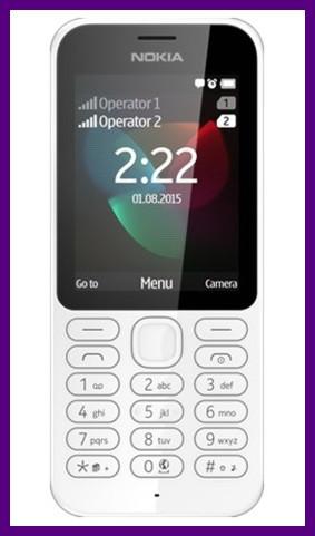 Телефон Nokia 222, 2 SIM (White)  Гарантия в Украине 1 год!