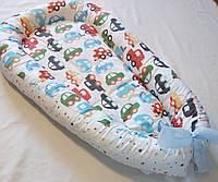 Гнездышко кокон babynest позиционер для новорожденного машинки