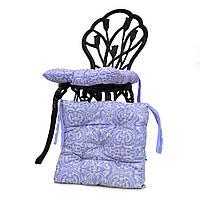 Подушка для стула  Фреска лаванда