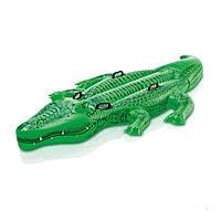 Детский надувной плотик для плавания Intex  Крокодил,203 см, фото 1