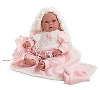 Llorens - новорожденная кукла девочка Recien Nacido, 38 см, фото 1