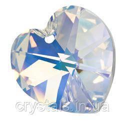 Кришталеві підвіски серце Preciosa (Чехія) 10 мм, Crystal AB