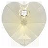 Хрустальные подвески сердце Preciosa (Чехия)  10 мм, Crystal Blond Flare