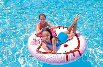 Детский надувной плотик для плавания Intex 56513 Hello Kitty 137 см, фото 2
