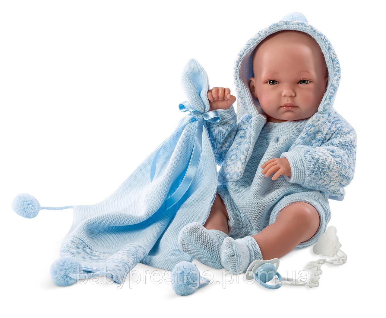 Llorens - новорожденная кукла мальчик New Born Pipo, 35 см