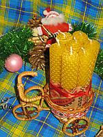 """Набор Новогодних свечей """"Велосипед Деда Мороза"""""""