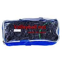 """Сетка  волейбольная VN """"NEW"""" с тросом черная нейлон d 3.0 мм."""