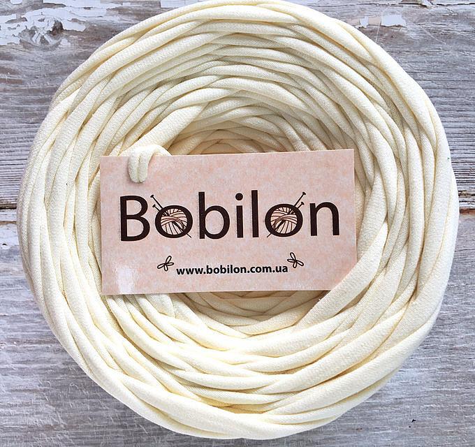Ленточная пряжа Бобилон 5-7 мм, кремовый