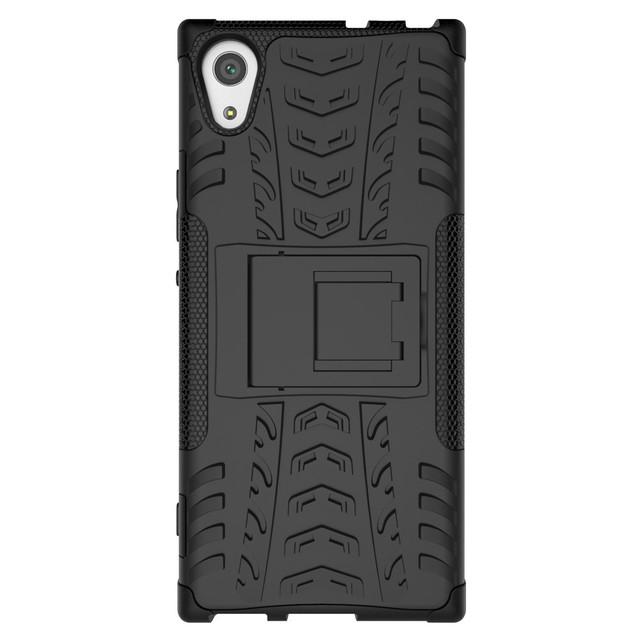 чехол накладка Sony Xperia XA1 противоударный черный