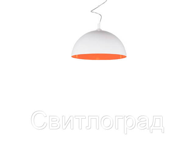 Светильник подвесной с плафонами Nowodworski Новодворски  HEMISPHERE WHITE-ORANGE FLUO L
