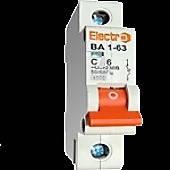 Автоматический выключатель ВА 1-63 С 6А Electro