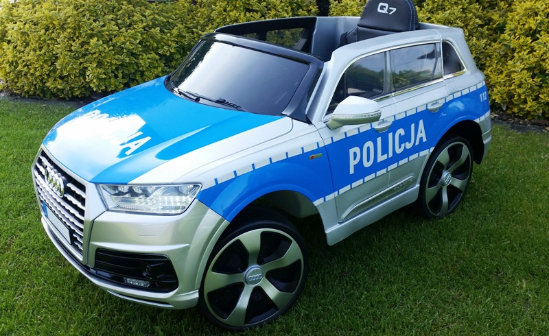 Детский электромобиль AUDI Q7: EVA, MP3, пульт 2,4 G - Полицейский (код: 6830507190)-купить оптом