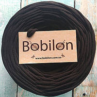 Пряжа трикотажная Бобилон 5-7 мм, цвет шоколад
