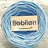Пряжа трикотажная Бобилон 5-7 мм, цвет небесно-голубой