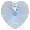 Кришталеві підвіски серце Preciosa (Чехія) 10 мм, Crystal Medium Blue