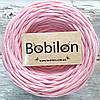 Пряжа трикотажная Бобилон 5-7 мм, цвет нежно-розовый