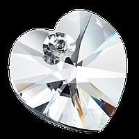 Хрустальные подвески сердце Preciosa (Чехия)  14 мм, Crystal