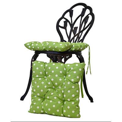 Подушка для стула горох олива