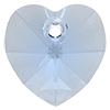 Хрустальные подвески сердце Preciosa (Чехия)  14 мм, Crystal Medium Blue