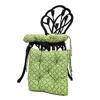 Подушка для стула  Ажур олива