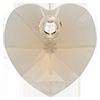 Хрустальные подвески сердце Preciosa (Чехия)  18 мм, Crystal Honey