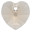 Хрустальные подвески сердце Preciosa (Чехия)  18 мм, Crystal Velvet