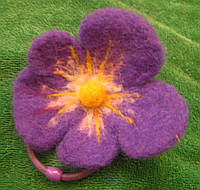 Цветок- резиночка из шерсти ( цена за одну штуку), фото 1