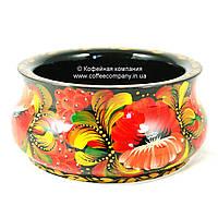 Конфетница ручной работы Петриковская стилизация ручная роспись деревянная 9410