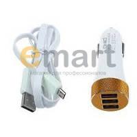 Автомобильное зарядное устройство LDNIO DL-C50 5,1A 3xUSB + кабель micro USB