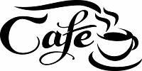 Виниловая интерьерная наклейка - Надпись Кофе